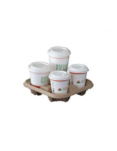 Vassoi compostabili portabicchieri 4...