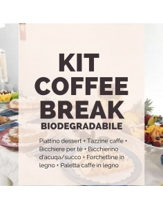 Kit coffee break biodegradabile e compostabile